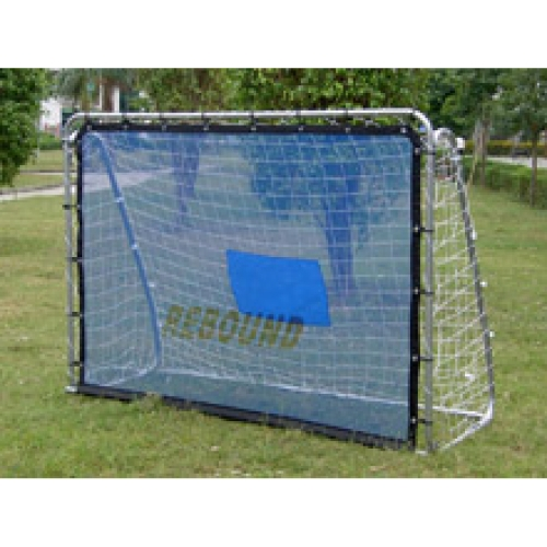 Soccer goal with rebounder